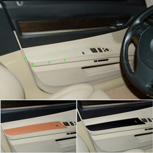 1 Pair Car Styling Interior Mirco Leather Door Panel Armrest Handle Pull Protection Cover for BMW 7 Series F02 2009-2015