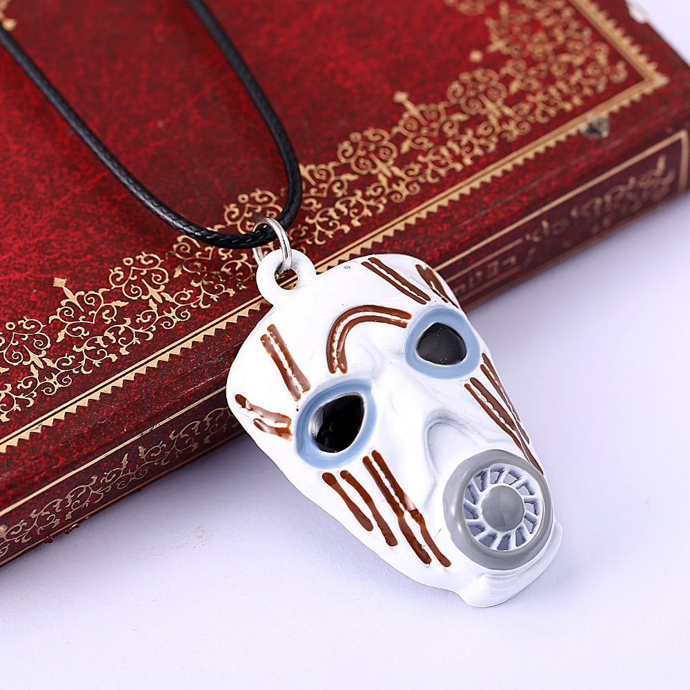 game surrounding Peripheral Borderlands 2 White Mask Necklace hot sale rope collar necklace image