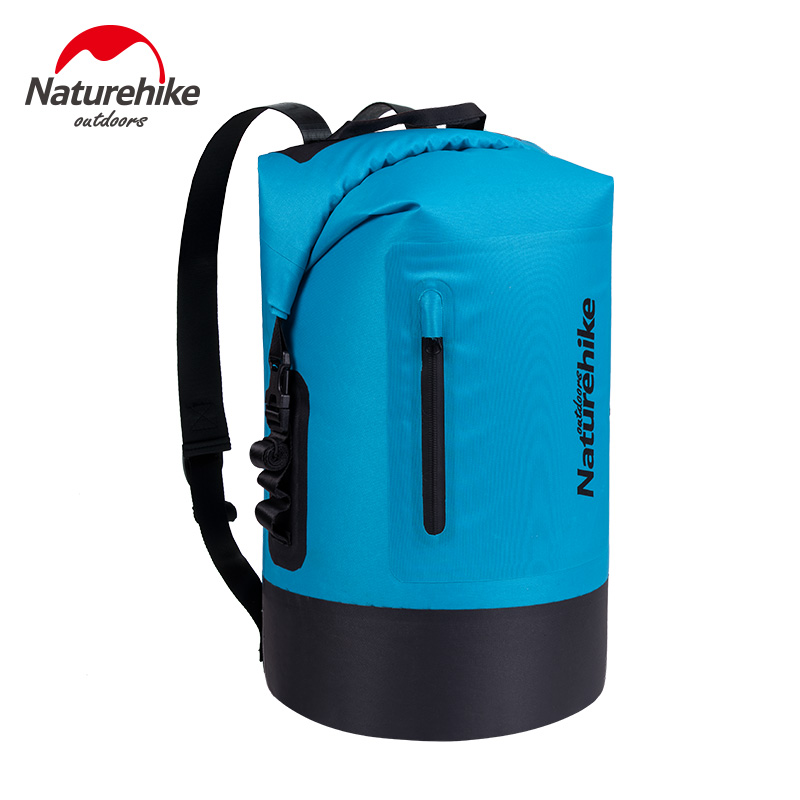 20L 30L 40L 420D TPU Dry Wet Separation Trekking Drifting Seal Rafting Bag Double Straps Dry Swimming Waterproof Bag With Pocket