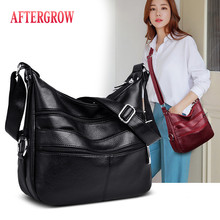 Luxury Retro Soft Washed Leather Women Shoulder Bag Designer Brand Messenger Bag Female Large Capacity Handbag Elegant Lady Bags цена 2017