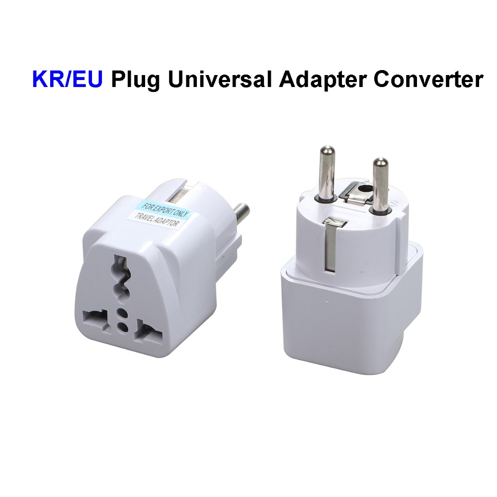 Universal EU South Korea Electrical Plug Adapter Converter US AU UK To Euro European Germany KR AC Travel Power Socket Outlets original and new 8inch lcd display screen panel claa080wq05 xn v repair parts replacement for lenovo a5500 a8 50 free shipping