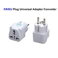 Universal EU South Korea Plug Adapter Converter US AU UK To European Germany KR AC Travel