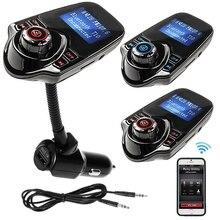 Новинка 2017 года T10 громкой связи Bluetooth гарнитура для авто MP3 аудио fm-передатчик 5 В 2.1A USB Автомобильное Зарядное устройство LED Экран Поддержка TF карты