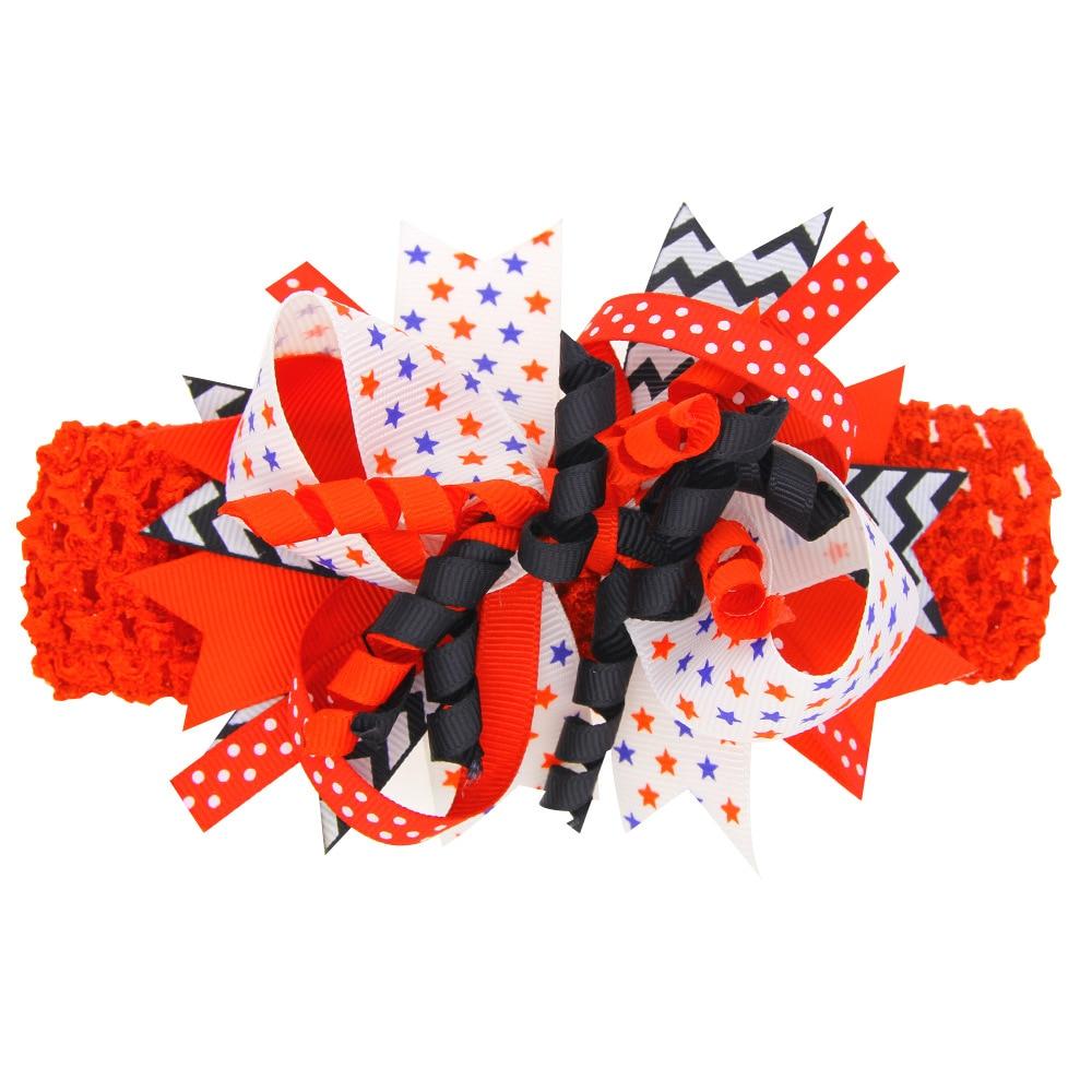 10 шт./лот красные, синие звезды шпилька лук шифон ручной работы с бантом для девочек заколка для волос группа лук Женские аксессуары для воло...