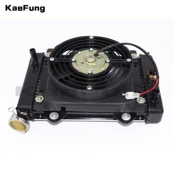 motorcyel parts engine Water cooled cooling cooler Radiator cooling & 12v FAN FOR 150cc 200cc 250cc moto Quad 4x4 ATV UTV parts