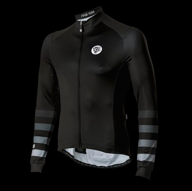 2018 ATTAQUER All Day Faded Stripe Winter Long Sleeve cycling Jersey pro  fit race bicycle clothes thermal fleece free shipping 3f9e8f609
