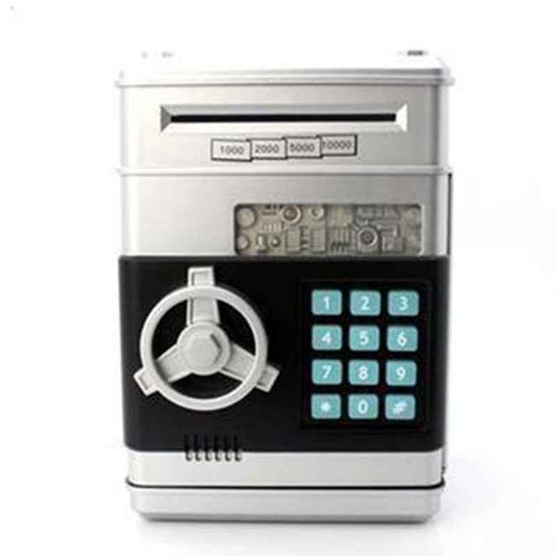 Hot Sales Piggy Bank Mini ATM Money Box Safety Electronic Password Chewing Coins Cash Deposit Machine For Children