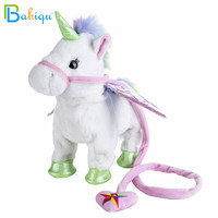 Babiqu 1pc Electric Walking Unicorn Plush Toy Stuffed Animal Toy Electronic Music Unicorn Toy for Children Christmas Gifts 35cm 2