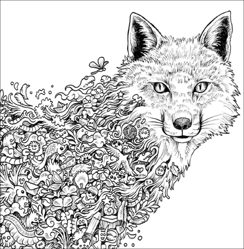 96 Pages Animorphia Coloring Book For Adults children Develop ...