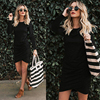 T Shirt Dress Women Autumn Sexy Kim Kardashian Ukraine Kyliejenner Dress Female Linen Boho Bodycon Sukienka Vestido Plus Size 5