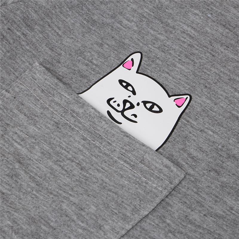 HTB1E7JEQpXXXXakXpXXq6xXFXXXG - Pocket Cat T-shirt