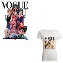 Европейская мода, принцесса, железные нашивки для одежды, сделай сам, Детская футболка, одежда, нашивки, термопереводная наклейка