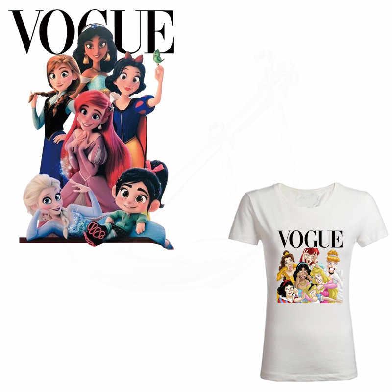 Популярная европейская мода Принцесса Железный заплатка для одежды DIY Детская футболка одежда нашивки наклейка с термопереносом