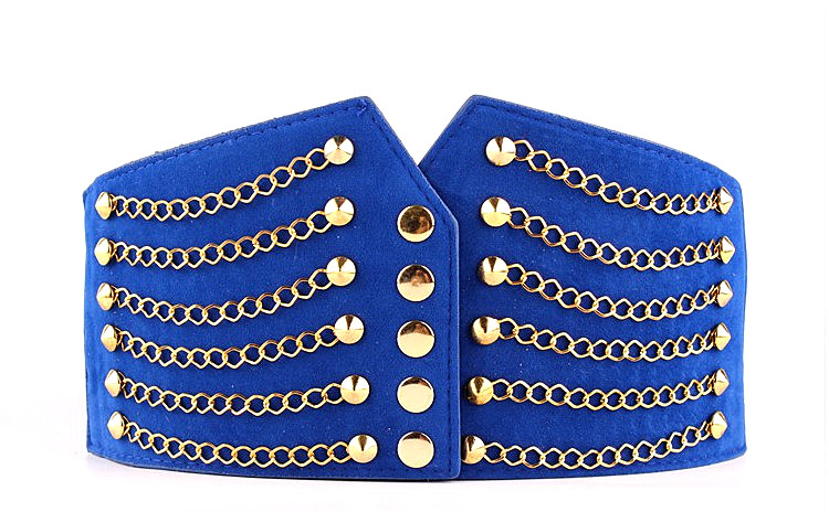 HTB1E7JWksnI8KJjSsziq6z8QpXa2 - Super Wide Waist Belt For Women Fashion Metal Chain Rivet Body Shaping PU Waist Bands High Waist Elastic Dress Belts