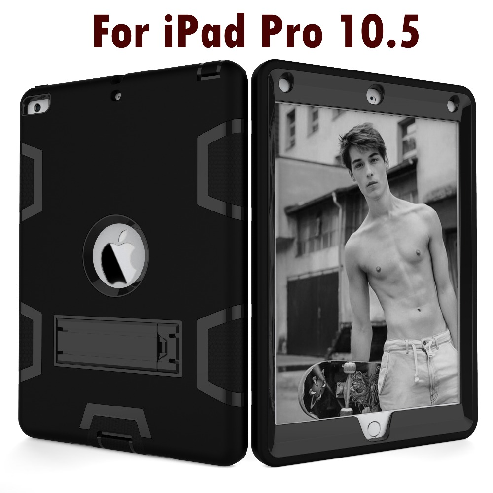 For Apple 2017 New iPad Pro 10.5 inch Tablet Armor Shockproof Hybrid Protective Stand Shell Cover Case for iPad A1701 A1709 protective shell for apple ipad pro 12 9 inch case amor shockproof heavy duty rubber hard hybrid cover stand case cover