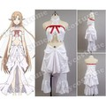 Sword Art Online ALfheim Online Asuna Yuuki Women White Dress Cosplay Costume Sex Products