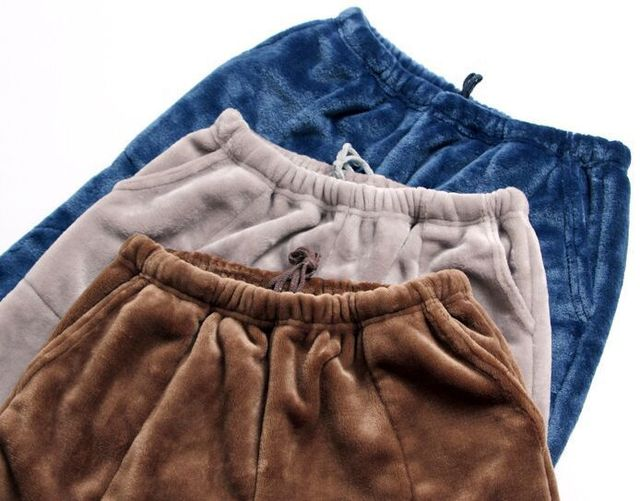 Men's Warm Plush Pajama Pants