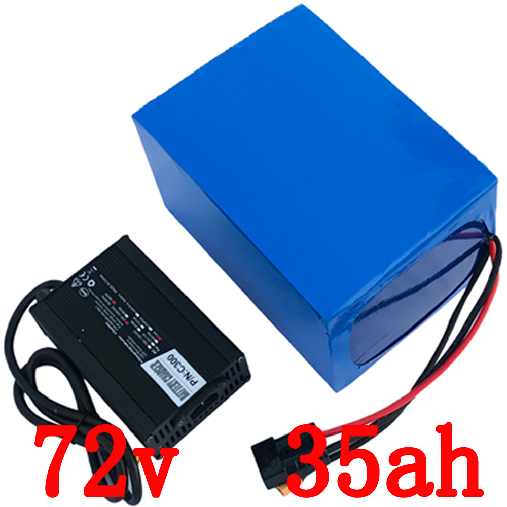 Free customs duty 3000W 72V 35AH Electric bicycle battery 72V ebike tricycle wheelchair battery 50A BMS and 5A Charge free customs taxes ebike battery 48v 40ah 2000w electric bicycle lithium battery pack with charger and 50a bms