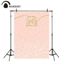 Allenjoy fotografia fundo manchas Cor de Rosa bonito de ouro romântico casamento novo fundo photocall personalize camera foto impressa