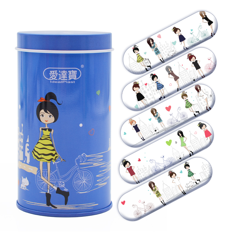 50PCs Cartoon PE Waterproof  Breathable Band Aid Adhesive Bandages Medical Emergency Kit Girls Lady Women Style
