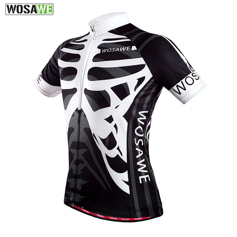 WOSAWE Jacket Shirt Clothing Cycling-Jersey Short-Sleeve Bicycle Bike-Skeleton Ropa-Ciclismo