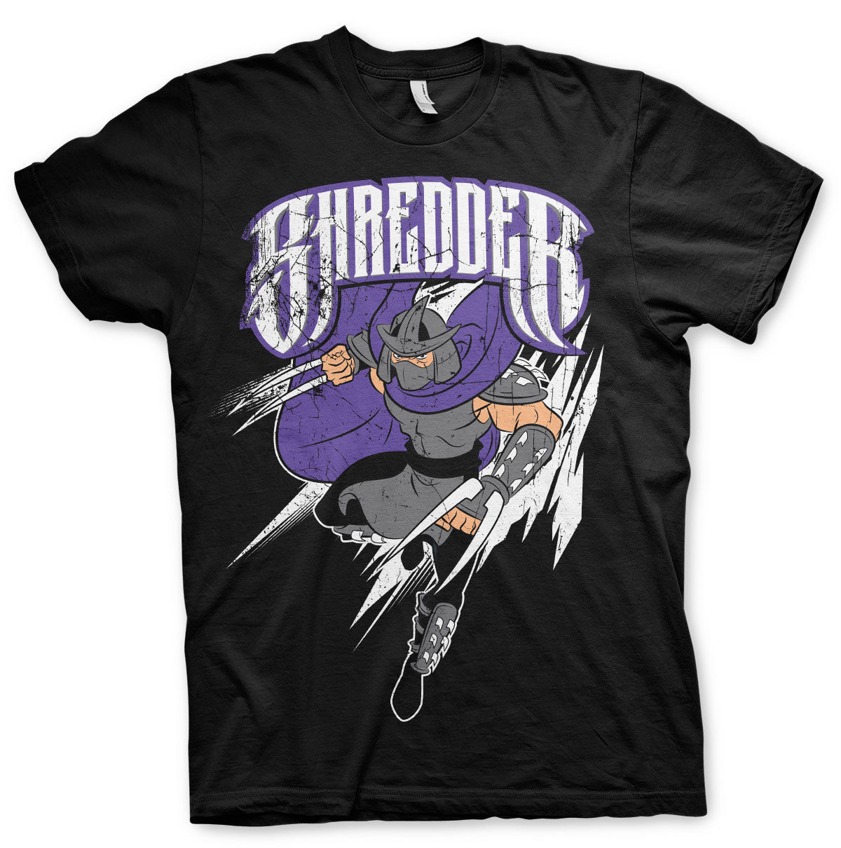 Officially Licensed TMNT- The Shredder Mens T-Shirt S-3XL Sizes Casual Plus Size T Shirts Hip Hop Style Tops Tee S-3Xl