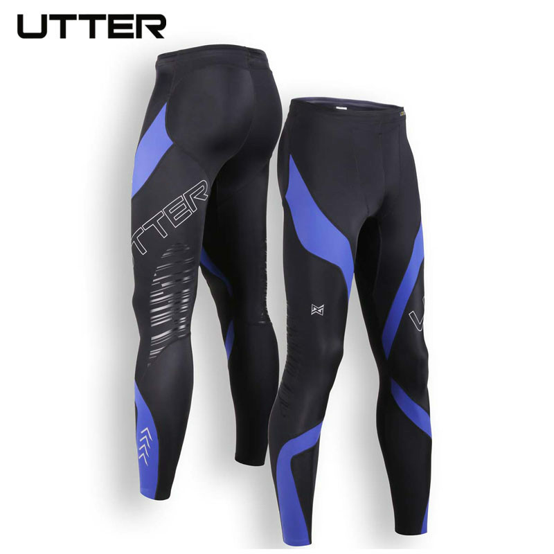 UTTER J5 Blue Printing Mens Compression Pants Sports Running Tights Basketball Gym Bodybuilding Jogger Jogging Fitness Trousers 2016 boys running pants soccer trainning basketball sports fitness kids thermal bodybuilding gym compression tights shirt suits page 2