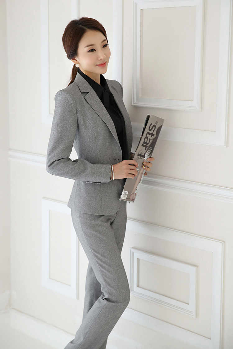 IZICFLY Spring Black Blazer Feminino Female Uniform Business Suits with Trouser Elegant Slim Office Suits for Women Clothing 4XL 65