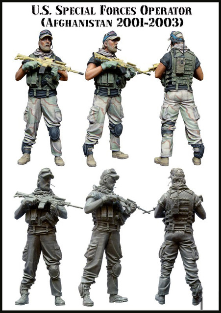 US SPECIAL FORCES OPERATOR (AFGHANISTAN 2001-2003) 1/35 Resin Model Kit