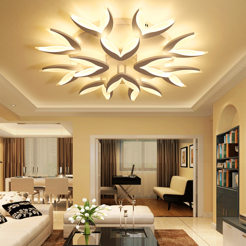 Bedroom Lighting For Low Ceilings Bedroom Curtains With Blinds Home Furniture Bedroom Sets Girly Bedroom Decor: Chandelierrec Modern Led Ceiling Chandeliers For Living