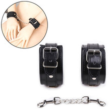 New Sex Handcuffs PU Leather Bdsm Bondage Restraints Slave Game For Couple Erotic Bondage Ankle Cuffs Accessories Erotic Toys maryxiong pu leather collar corselet arm cuffs bodysuit erotic clubwear body harness bdsm bondage restraints sex toys products