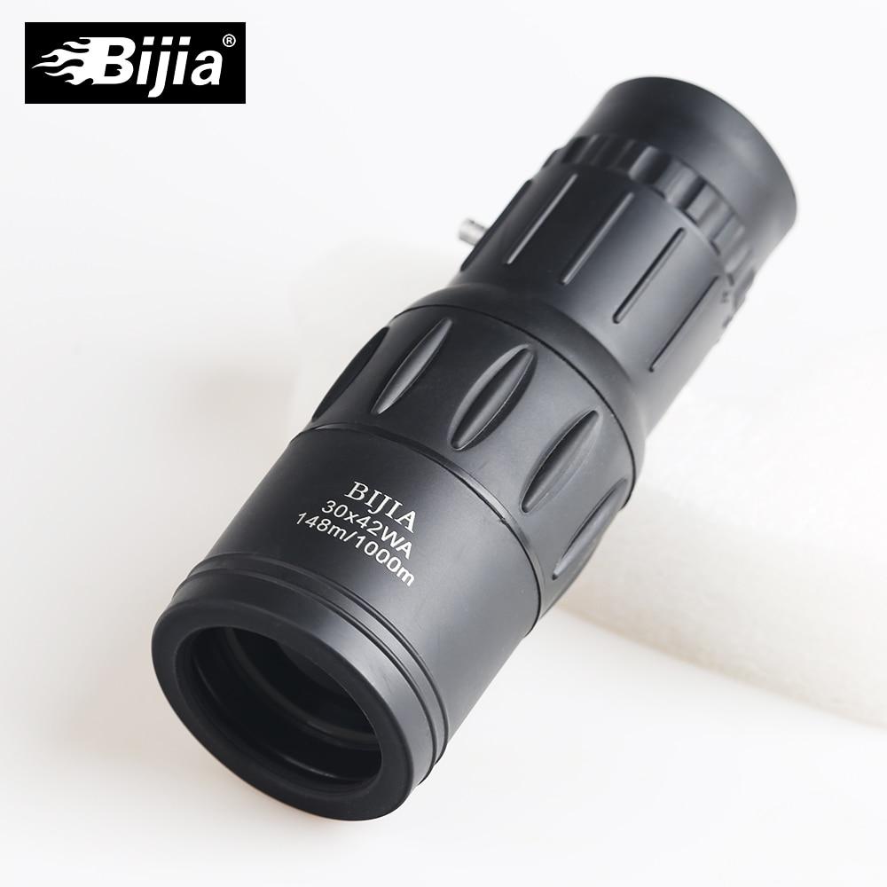 Bijia 30x42 Power Power Dual Monoculo Optical Monocular Spyglass HD - קמפינג וטיולים