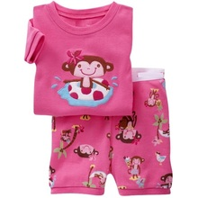 2019 Spring Autumn Cartoon M Baby Girls Kids Childrens Pijamas short Sleeve Cotton Pyjamas Sleepwear Pajamas Clothing Sets