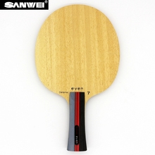 цена на Table Tennis Blade SANWEI EVEN 7 DEFENSE 7 plywood for defensive pips-long/ pips-out ping pong racket bat paddle