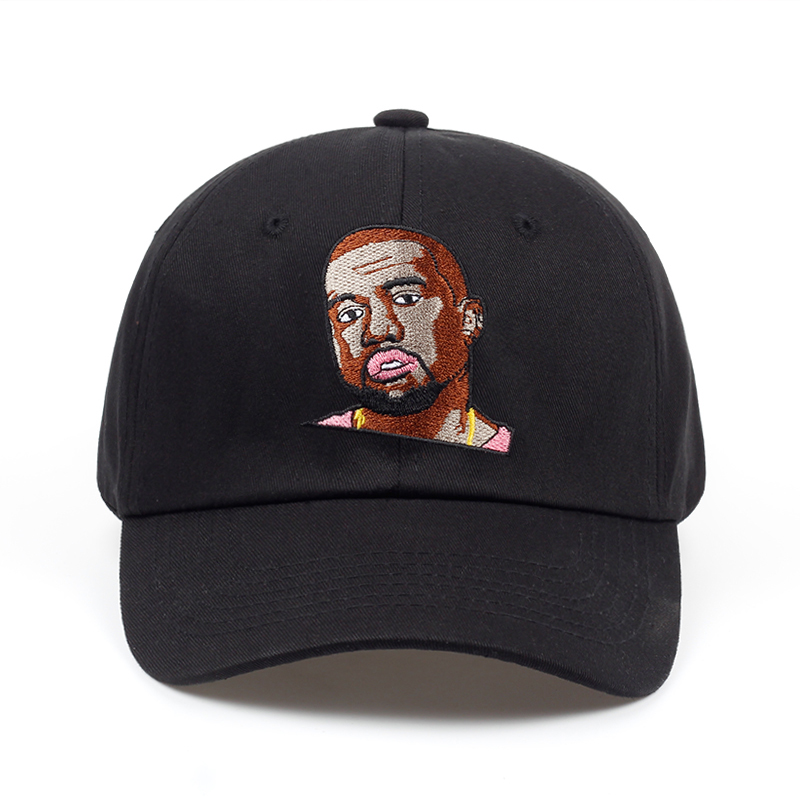 new Kanye Cartoon Embroidery dad hat brand golf snapback cap hat Summer men women fashio ...