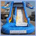 Бесплатная Доставка Надувной Бассейн Слайд Коммерческих Надувная Горка с Бассейном для Аренды