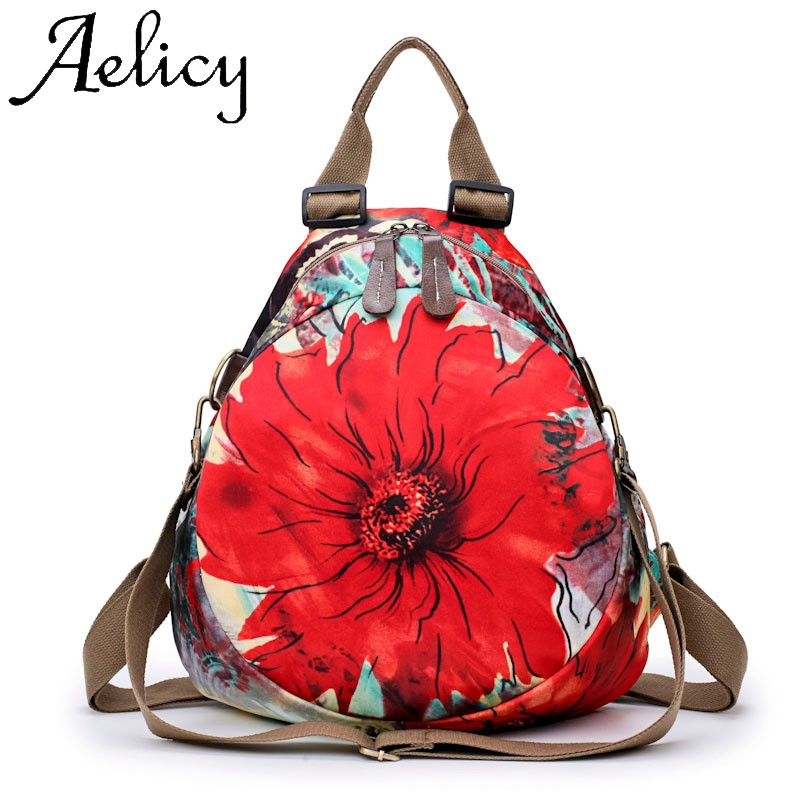Aelicy Fashion Women Retro Printing Flower Backpacks Travel Bags School Travel Student Bag Flap Sport Phone Pocket Backpack BagAelicy Fashion Women Retro Printing Flower Backpacks Travel Bags School Travel Student Bag Flap Sport Phone Pocket Backpack Bag