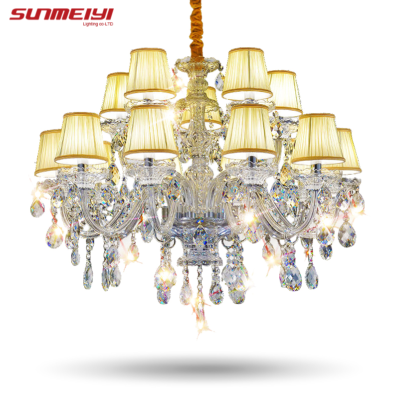 Modern Arm Chandelier: Modern Lustre Crystal Chandeliers 15 Arms Lighting Fixture