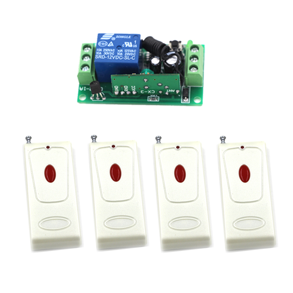 Home RF Wireless Remote Control Switch System 315/433 Mhz 4Transmitters +1Receiver Easy to Use rf wireless remote control switch system 4receiver switch