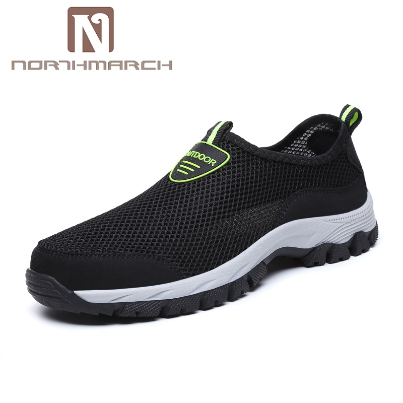 NORTHMARCH 2018 Summer Breathable Mesh Shoes Large Size Slip On Brand Fashion Soft Comfortable Mens Casual Shoes Footwear цена