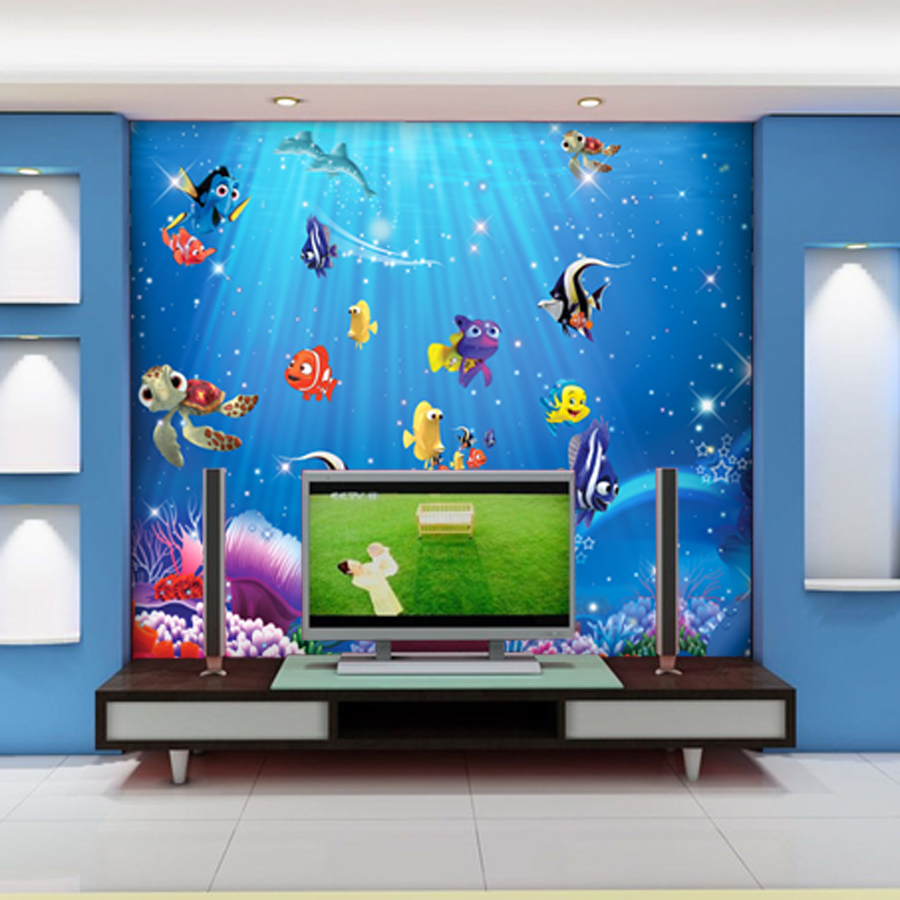 Wholesale 3d wall murals wallpaper for baby kids room 3d photo wholesale 3d wall murals wallpaper for baby kids room 3d photo mural child room fishes sea world 3d cartoon murals in wallpapers from home improvement on amipublicfo Image collections