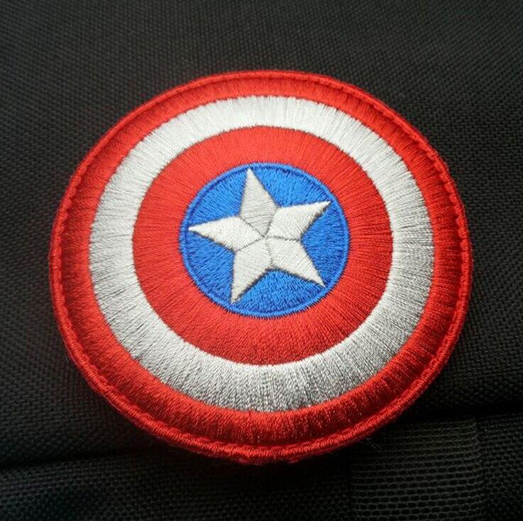 """3"""" The Avengers <font><b>Captain</b></font> <font><b>America</b></font> Uniform 3D Fabric Embroidered STICK-ON <font><b>Patch</b></font> Armband <font><b>Shield</b></font> logo <font><b>patch</b></font>"""