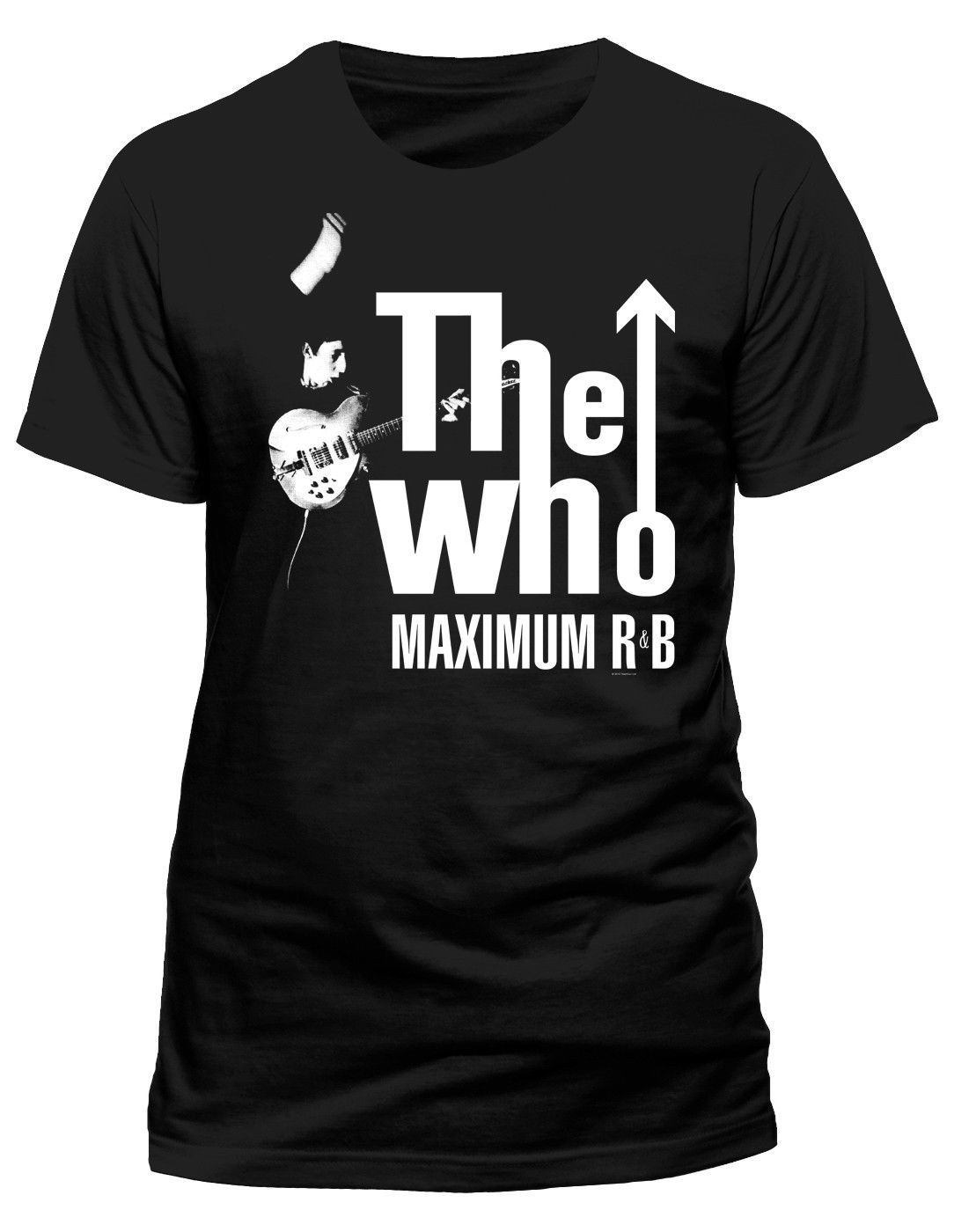 The Who MAXIMUM r&b  (Negro) T-SHIRT - Nuevo y Oficial