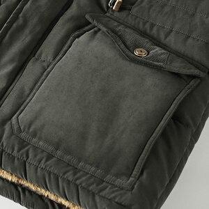 Image 5 - Mannen Winter Jas Plus Size 6XL, 7XL ,8XL Dikke Warme Parka Fleece Fur Hooded Militaire Jas Jas Zakken Windjack Mannen