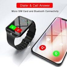 Купить онлайн GETIHU Смарт Смотреть цифровое DZ09 U8 запястье Для мужчин Bluetooth наручные часы SIM Спорт Smartwatch камеры для iPhone Android телефон Вах
