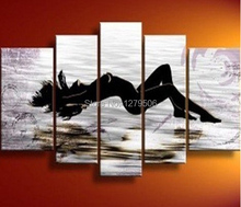 Sexy Woman 100% Hand-painted Beauty Body Modern Abstract Nude Art Wall Picture For Home Decor 5 Pcs/set Oil Painting On Canvas
