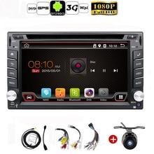 Auto Android 6.0 Audio Del Coche de Navegación GPS 2 DIN Car Stereo Radio Bluetooth GPS USB/Universal Intercambiable Jugador AUX MAPA