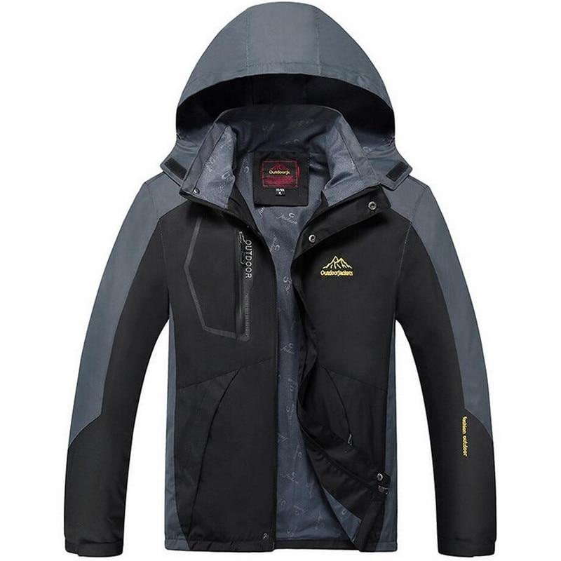Plus Size 6XL 7XL 8XL 9XL Spring Autumn Waterproof Jacket Men Outdoors Windproof Windbreaker Tourism Mountain Jacket Men Outwear