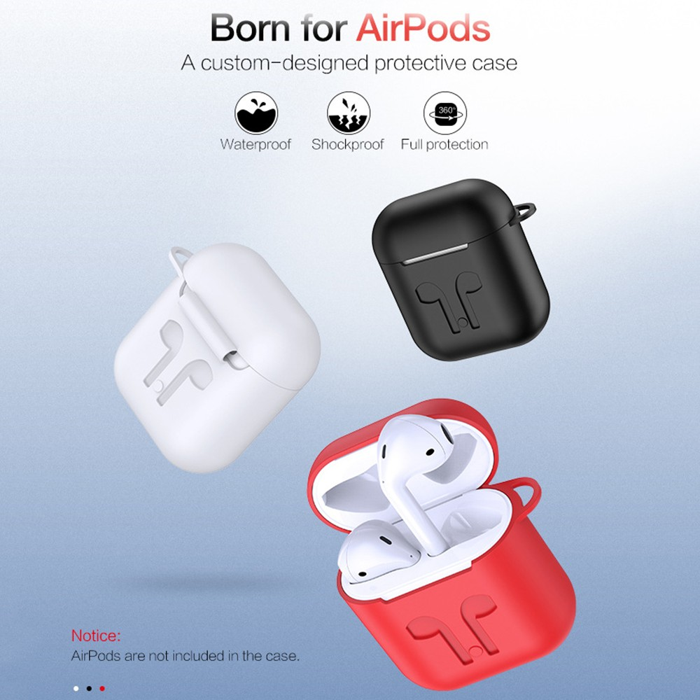 Hot Portable 3 In1 Silicone Case Cover Earphones Pouch Anti-Lost Wireless Earphone Headphones Case For AirPods Carabiner Cover