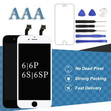 цена на For iPhone 6 6 Plus LCD Display White Black Panel Digitizer Assembly Phone Replacement For iPhone 6S 6S Plus LCD Touch Screen